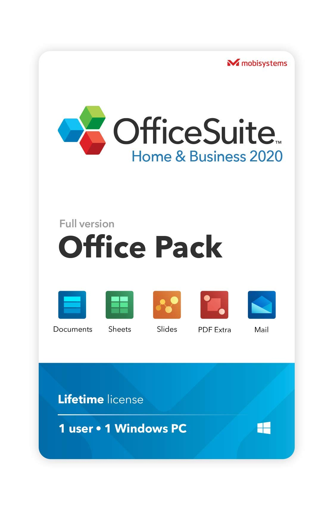OfficeSuite Home & Business 2020  full license  Compatible with Microsoft Office Word, Excel & PowerPoint and Adobe PDF for PC Windows 10, 8.1, 8, 7 (1PC/1User)