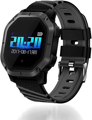 WANGXN Tracker De Remise en Forme avec Moniteur De Fréquence Cardiaque Tracker De Remise en Forme Bracelet D'activité Intelligente Tracker IP68 étanche avec écran Tactile,noir
