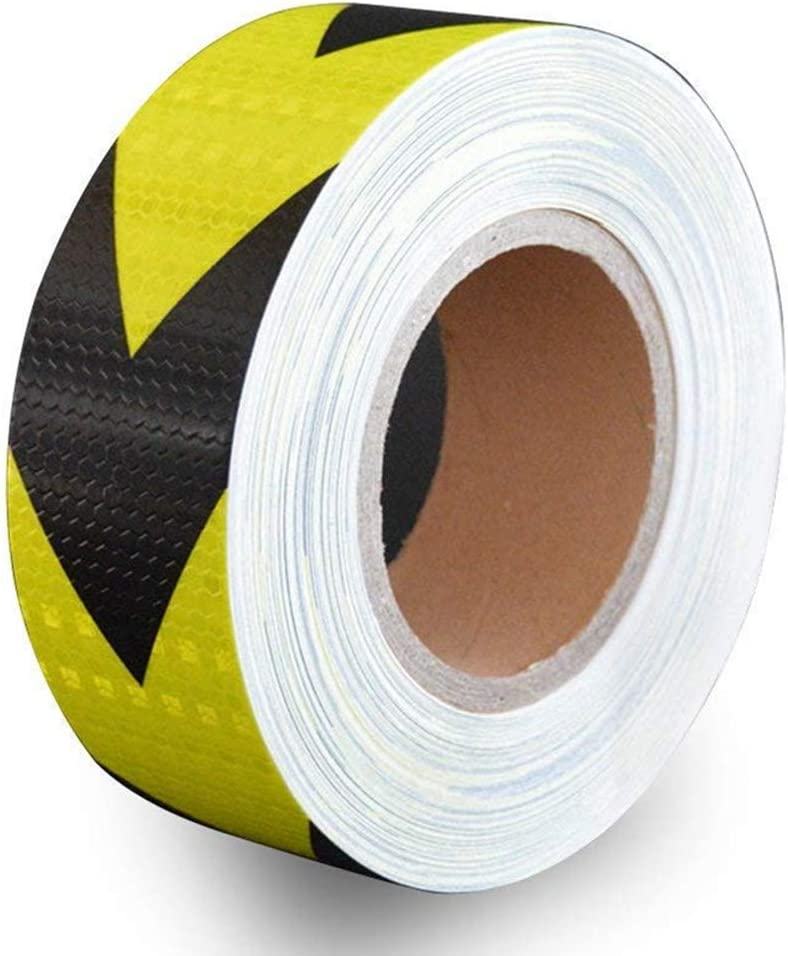 5CMx3M Reemky Reflective Warning Tape 2 x 9.8ft Fluorescent Safety Sticker Night Conspicuity Arrow Sticker 5 Colors Optional