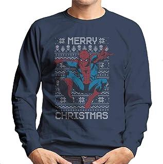 MARVEL Christmas Spider Man Swing Merry Christmas Men's Sweatshirt