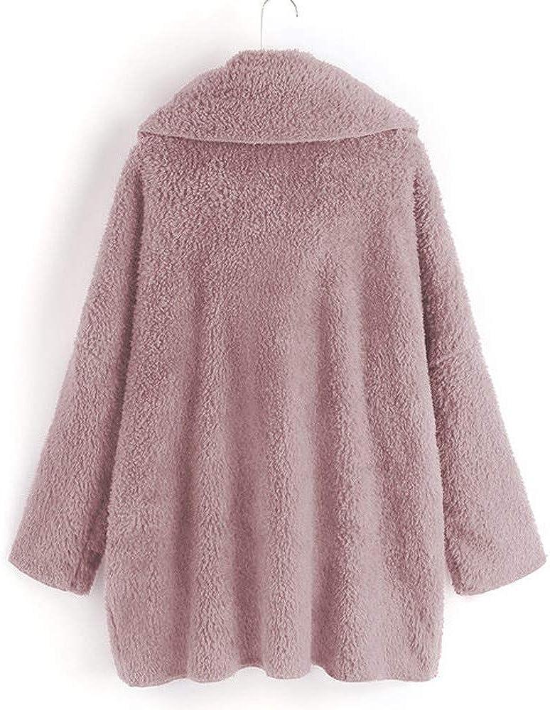 OSYARD Damen Reißverschluss Kapuzenpulli Mantel Winter Warme Wolltaschen Mantel Outwear, Frauen mit Kapuze Fuzzy Sherpa Sweatshirt Fleece Pullover Warmer Z-02 Rosa(kein Hut)