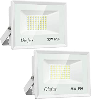 Olafus 2 Pack 35W Focos LED Exterior, IP66 Impermeable