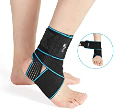 Ankle Support Brace, Adjustable Compression Ankle Braces for Sports Protection, One Size Fits Most for Men & Women