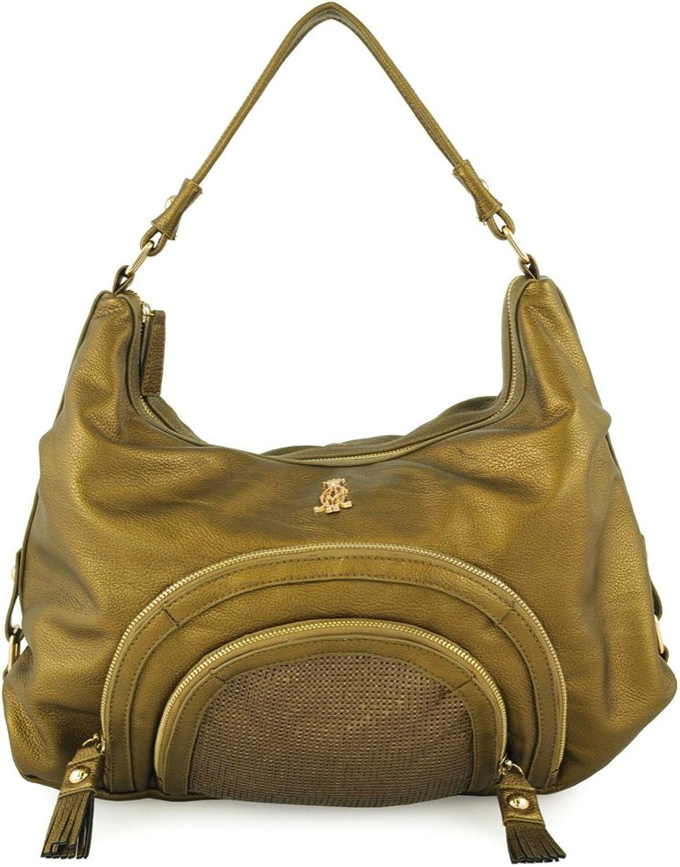 Christian Audigier Natural Charms Holly Hobo Bag  Bronze