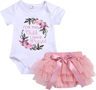 0c9c8d842a56 6M-3Y,SSZZoo Toddler Baby Girls Skirt Outfits Floral Letter Romper Top+Tutu