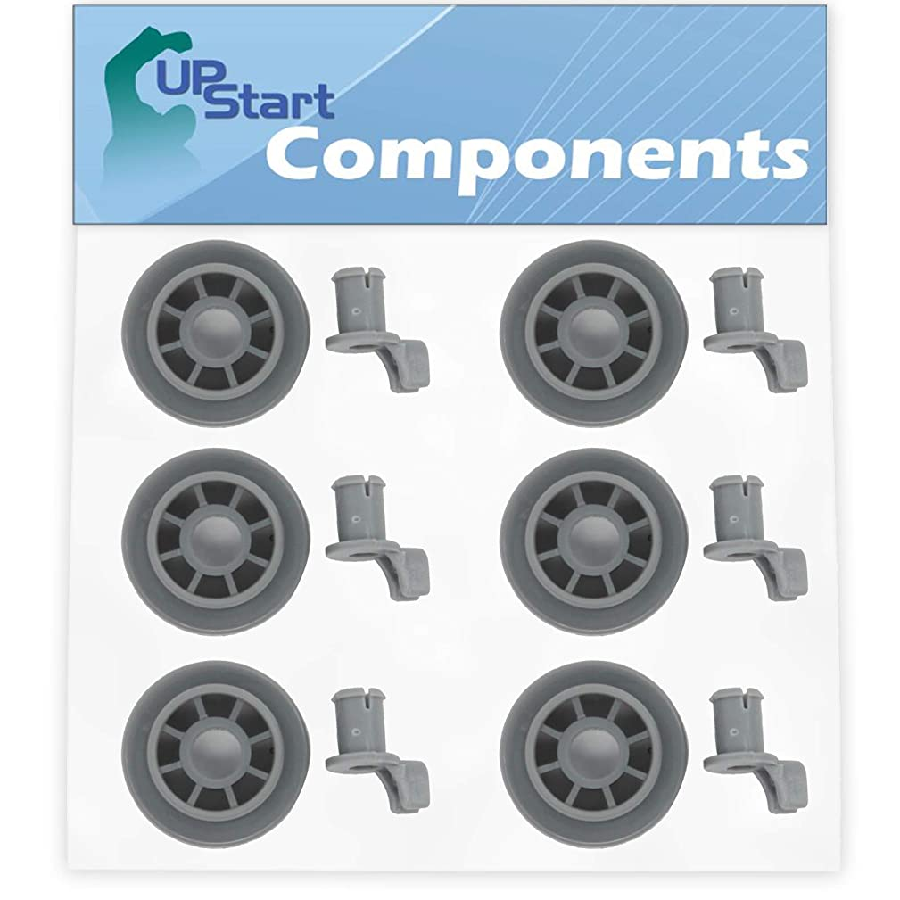 6-Pack 165314 Dishwasher Lower Dishrack Wheel Replacement for Bosch SRV53C13UC/01 Dishwasher - Compatible with 00165314 Lower Rack Roller - UpStart Components Brand
