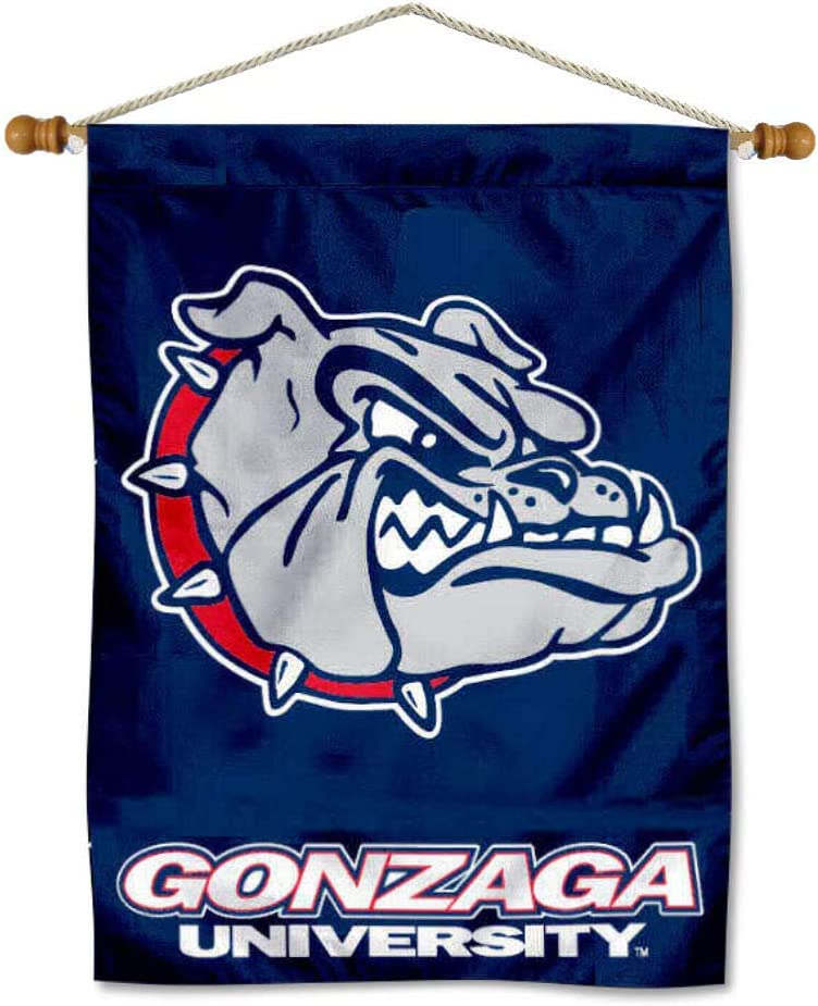 Reservation Gonzaga Bulldogs Manufacturer regenerated product Banner Pole Hanging with