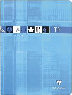 Clairefontaine 3327C - Un cahier piqué de travaux pratiques 80 pages 24x32 cm grands carreaux 90 g et unies 125 g, couvert...