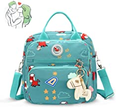 Diaper Tote Bag,Nappy Changing Backpack Multi-Function Stylish Large Capacity Travel Backpack Insulated Bags for Baby Care,C