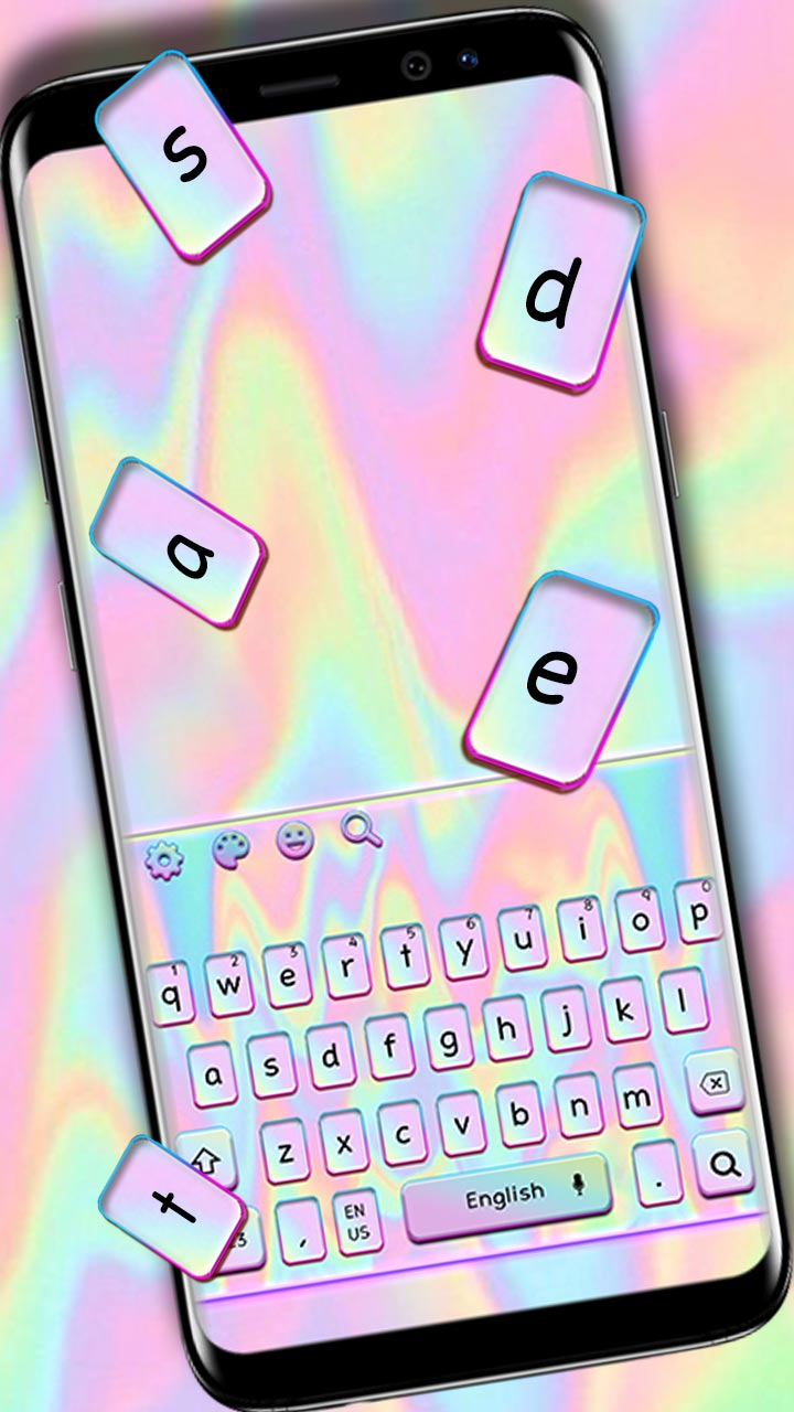 Melted Pastel Laser Keyboard Theme
