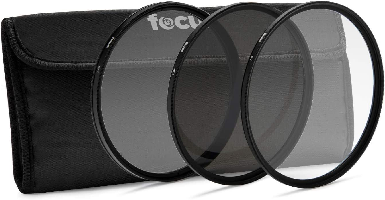 Super sale Focus Camera 82mm 3-Piece Lens Filter with Neutr Kit UV Reservation CPL and
