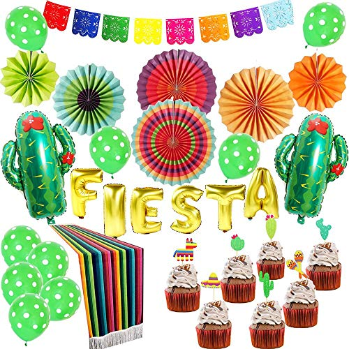 Fiesta Party Supplies,Mexican Party Decorations, Wedding,Birthday,Cinco De Mayo,Taco Bout a Party,Luau Party Decorations-33 pieces