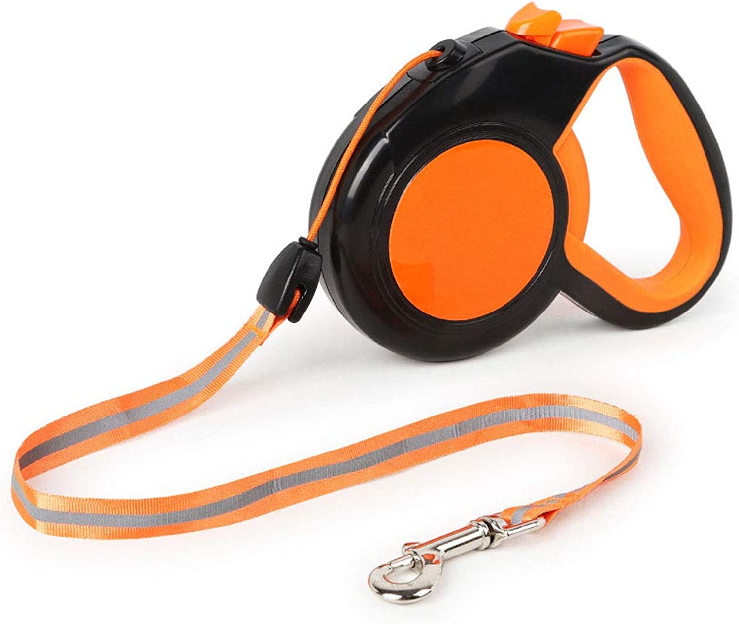 Retractable Lead for Small Dog Cat Reflective Lightweight Pet Leash for Walking Running Hiking. (color   orange, Size   8m)
