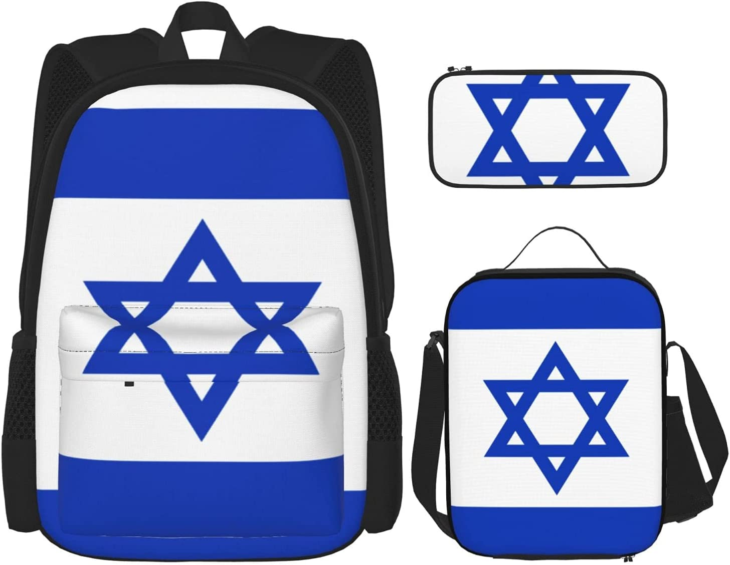Flag Of Israel Youth School Limited price Combinatio Lunch Beauty products Case Bag Pencil