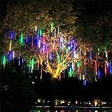 N\A Christmas Meteor Shower Lights, 10Tube 20 Inch Snowfall Led Lights, Waterproof Garden Lights for Christmas Tree Decorations Wedding