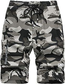 LAUSONS Pantalon Corto niño Camuflaje - Shorts de niño de Verano - Bermuda Chino niño Cintura Elastica
