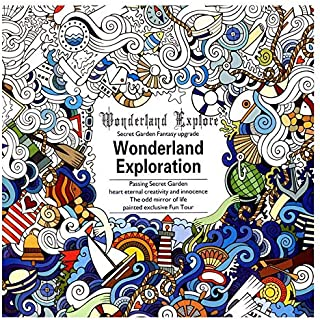 24 Pages Secret Garden Wonderland Explorer Adult Coloring Relieve Stress Painting Drawing Book