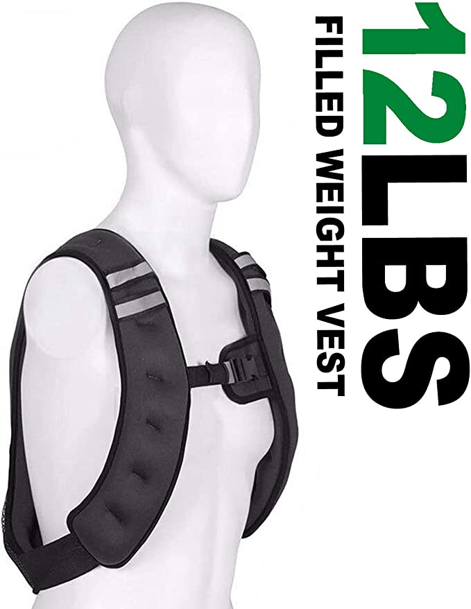 Thin Steel Running Weights Training Waistcoat Loading Weight Jacket Thin Great Unisex Fit Reflective Shock Cord and Trim kebyy 20kg Vest Adjustable Weighted Vest 10lbs//15lbs//20lbs