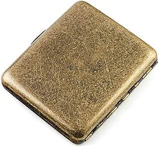 LBLMSB Cigarette Holder, Cigarette Case 20 Sticks, Ultra-Thin Portable Flip Personalized Cigarette Holder, (Color : Gold)