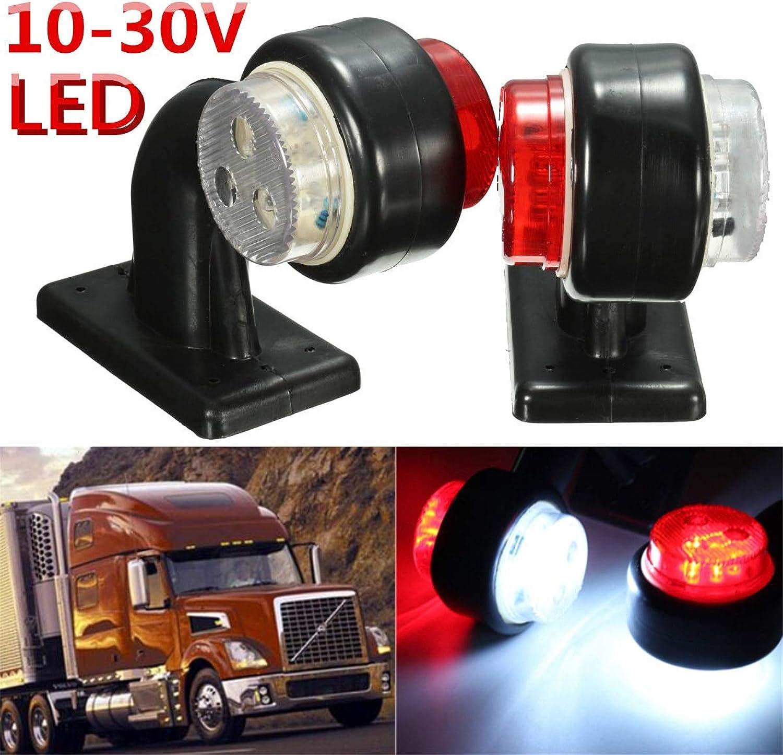 Gift4Car White Red Car Truck Van Side Strobe Light Warning Flasher