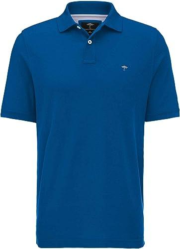 Fynch Hatton Polo Bleu de Grandes Tailles Jusqu'au 5XL