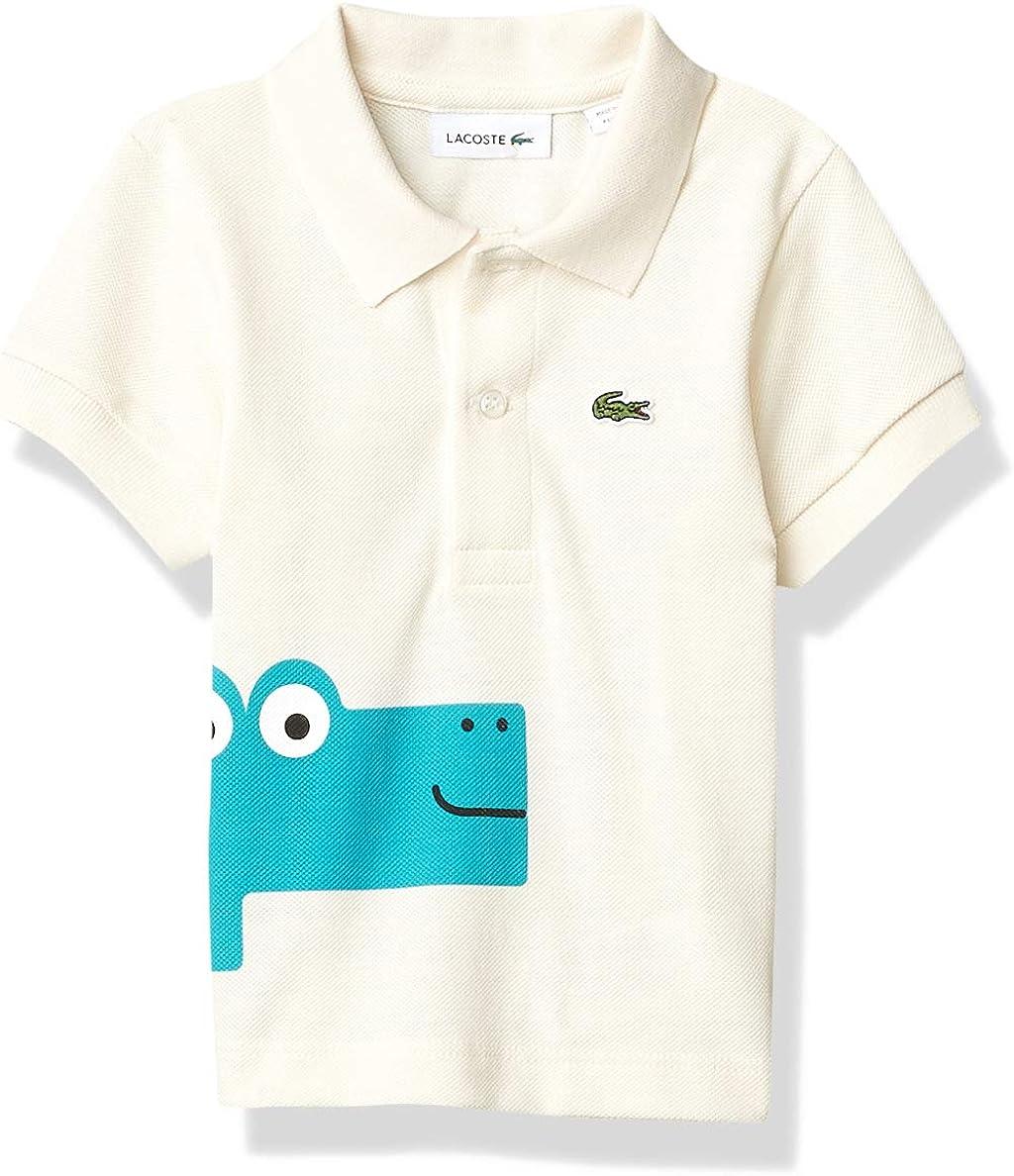 Lacoste Boys' Graphic Croc Pique Polo Shirt