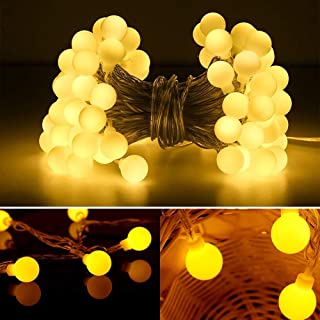 Katuae 16.4 FT 50 LED Globe Ball String Lights, Fairy String Lights, Decor for Indoor Outdoor Party Wedding Christmas Tree...