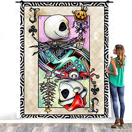 Zoko Apparel Jack Skellington - Manta cálida para cama (127 x 152 cm)
