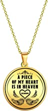 Elegant Chef Grandpa Memorial Necklace- A Piece of My Heart is in Heaven- Grandfather Remembrance Sympathy Gift