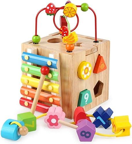 Ahorre 60% de descuento y envío rápido a todo el mundo. Xyanzi Juguetes para Bebés Juguetes De Cubos Cubos Cubos Multifuncionales De Madera Laberinto De Cuentas, Engranajes, ábaco, Xilófono, Juegos De Combinaciones Lógicas Juguetes Educativos De Aprendizaje Temprano P  punto de venta barato