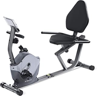 MaxKare Recumbent Exercise Bike Indoor Cycling Stationary Bike with Adjustable Seat and Resistance, Pulse Monitor/Phone Holder (Seat Height Adjustment by Knob)