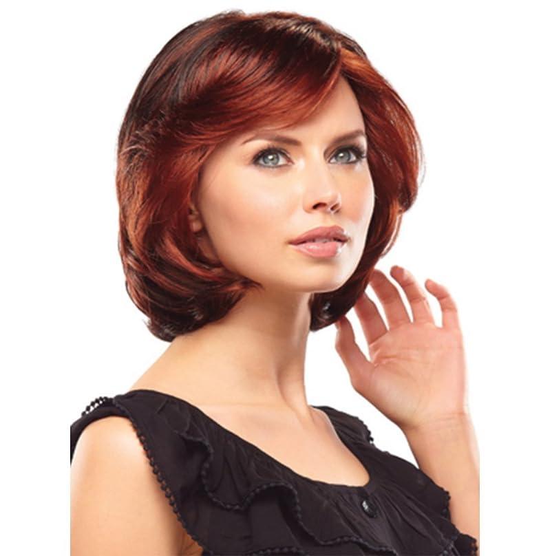 苦痛池願望女性のファッションのための短い赤い自然の波の合成かつら高密度の毎日の使用