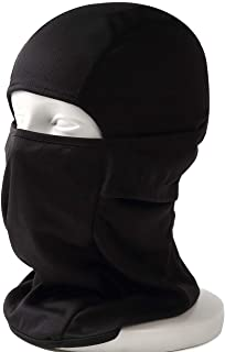 DELTA FIELDS 3way マルチ フェイスマスク サバゲーマスク バラクラバ マスク メッシュ サバイバルゲーム タクティカルマスク 目だし帽 フルフェイス ハーフマスク 速乾 吸水 蒸れない 伸縮 万能(黒)