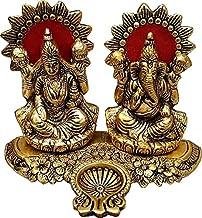 Lakshmi Ganesh Statue for Diwali Home Decoration Items puja Lakshmi Ganesh Murti Decorative Showpiece (Height: 9.5 inch)