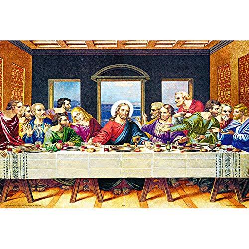 BeiMeng Puzzle in Legno per Adulti 1000 Pezzi Giocattoli Educativi per Bambini Regali Quadri Famosi Quadri Decorativi Gesù Ultima Cena-75x50cm