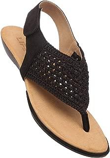 Life Womens Casual Wear Velcro Closure Flats_Black