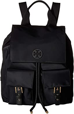 Tory Burch Scout Nylon Small Backpack Hibiscus Flower Shipped Free