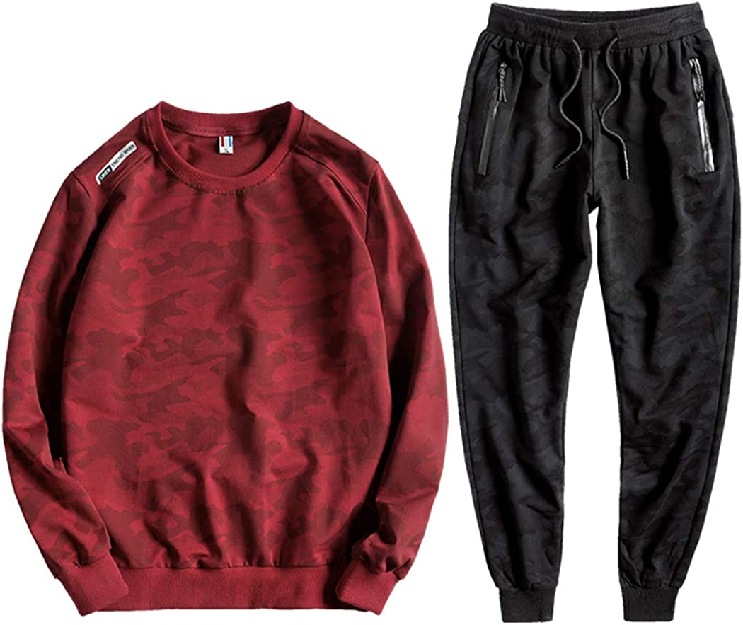 November's Long-awaited safety Chopin Men's Camouflage Sweatsuits Jogger Tracksuits