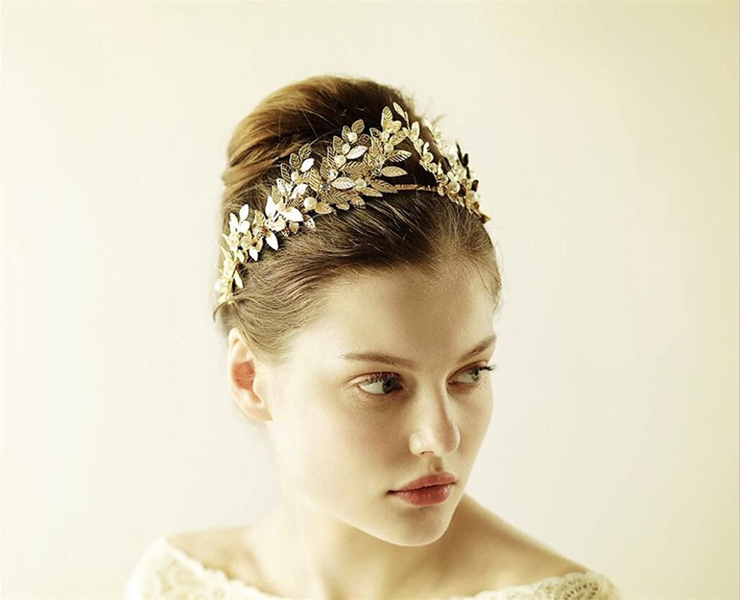 Bridal Crown,Wedding Crystal Hair Pins with Beads and Rhinestones Bridal Headpieces Accessories for Bride Bridesmaid