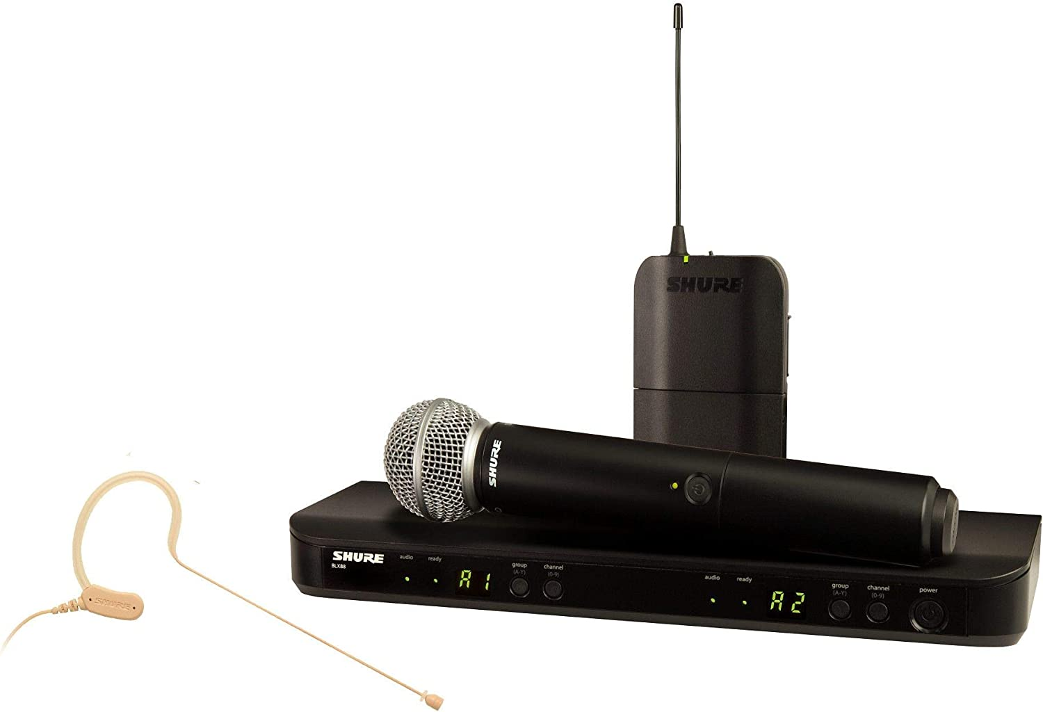 Shure Austin Mall BLX1288 MX153 Wireless Combo Recommended Dual System with Channe BLX88