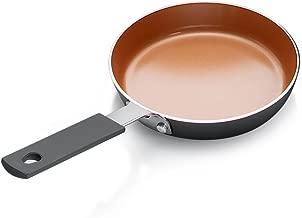 Gotham Steel 1888 Mini Egg Pan with Nonstick Titanium & Ceramic Coating, Small, Brown