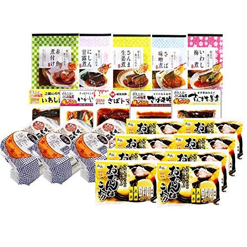 【非常食・防災食・常備食】レトルトごはん・煮魚・おでん12種21個セット