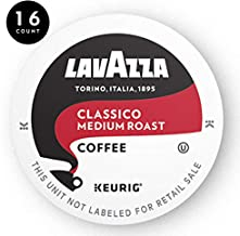 Lavazza Classico Single-Serve Coffee K-Cups for Keurig Brewer, Medium Roast, 16-Count Box