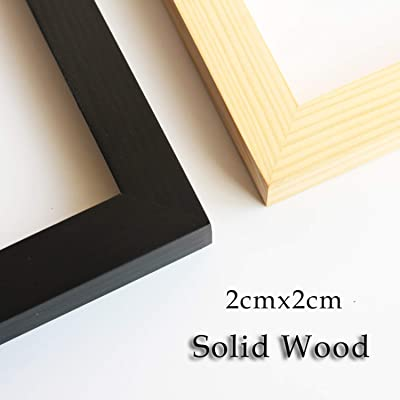 11x17inch Picture Frame Solid Wood Wall Mounting Certificate Poster Photo Frame Black,4 Pack