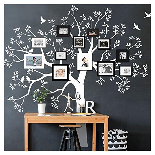Grandora W5483 Wandtattoo XXL Baum I schwarz (BxH) 165 x 160 cm I Flur Wohnzimmer Aufkleber Wandaufkleber selbstklebend Wandsticker
