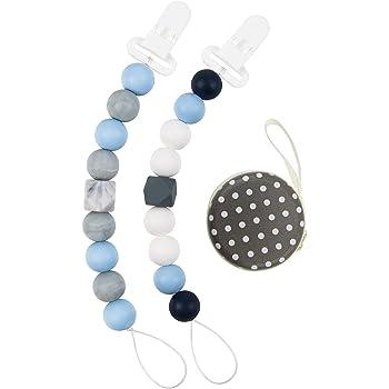 RUBY-Kit de Silicone Pour Faire 4 B/éb/é Pacifier Chain Clip,B/éb/é Attache Sucette,Silicone de qualit/é alimentaire Couleur pastel