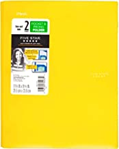 Five Star Plastic Folder with Prongs 2 Pockets (Yellow) (2 Pockets)