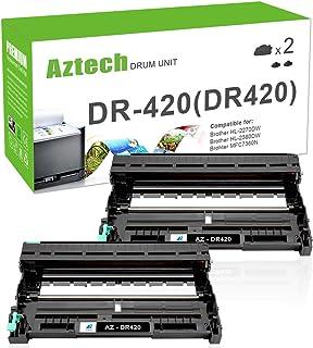 Aztech 2 Packs Compatible for Brother DR 420 DR420 Drum Brother HL-2270dw HL2270dw Drum HL-2280dw MFC-7860dw MFC 7860dw MFC-7360n DCP-7065dn DCP7065dn HL-2240 DCP 7060d 2240 2230 Drum Unit Printer