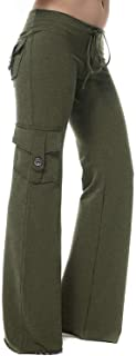 Womens Yoga Pants Wide Leg Sweatpants Bootleg Pants with Muti Pockets