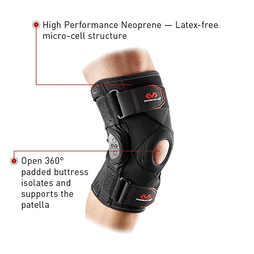 Mcdavid 429X Knee Brace, Maximum Knee Support & Compression for Knee Stability, Patellar Tendon Support, Tendonitis Pain Relief, Ligament Support, Reduce Injury & Assist in Recovery for Men & Women, Sold as Single Units (1)